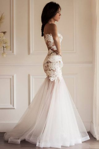 I can't get away from this slutty dress! It is HORRIBLE!!!!! Don't be a slut at your wedding! sexy is one thing, this is beyond that! Hate IT!