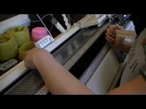 Уроки машинного вязания. Образование первого ряда. Профессиональный способ. - YouTube