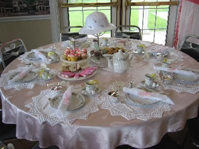 Tea party table setting information http www - Table setting for a party ...