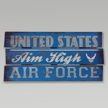 Air Force Wood Plank Sign