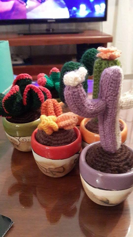 Cactus - amigurumi- maceta - crochet Cactus amirugumis ...