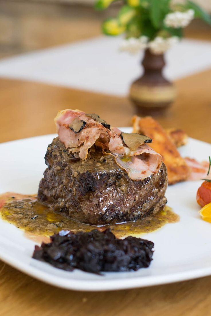 Beefsteak GATTO NERO (Boskarin - Istrian ox meat) - with istrian prosciuto and truffles