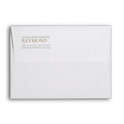 family surname white envelope with return address - return address gifts label labels cards diy cyo