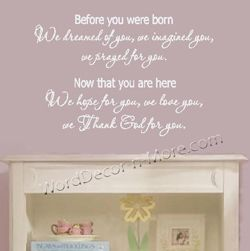 Before You Were Born Wall Decal