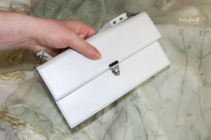 Купить Клатч Жемчужный - однотонный, театральная сумочка, белый, свадебная сумочка, женская сумочка