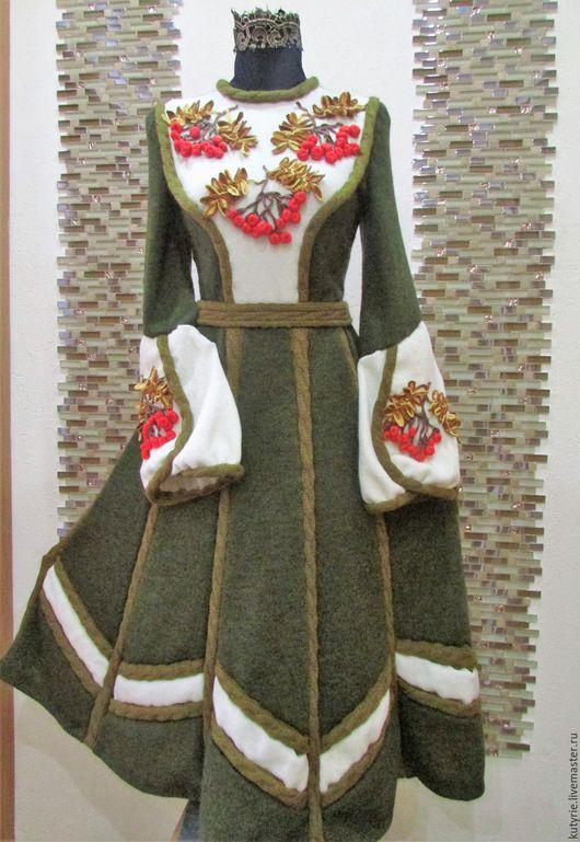 """Платья ручной работы. Ярмарка Мастеров - ручная работа. Купить Авторское платье """"Ryabinka Style"""". Handmade. Вязаное платье"""