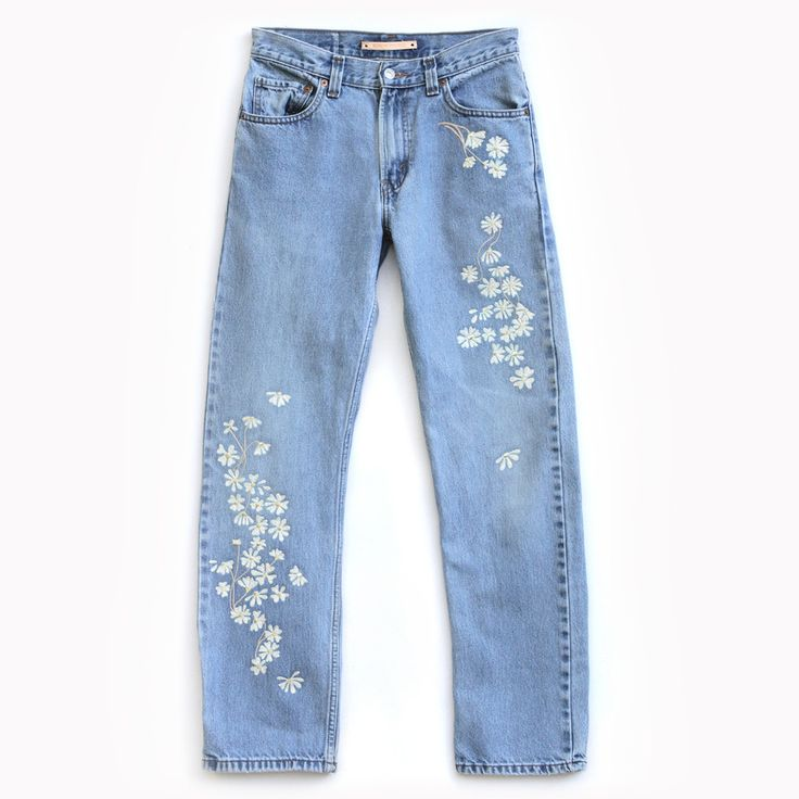 Bliss And Mischief - Chamomile Embroidered Denim