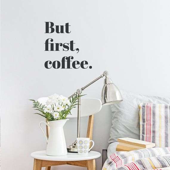Perfect But First Coffee Vinyl Wall Quote Decal Sticker Amazing Design