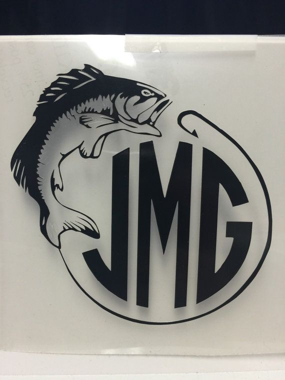 Fishing Monogram Decal For Yeti Cup Tumbler By
