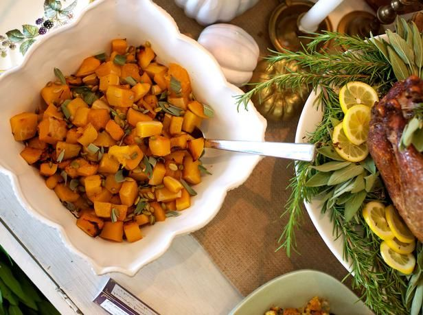 Savory and flavorful, butternut squash tops the list of favorite fall side dishes. As a tasty twist, top this healthy comfort food with toasted pumpkin seeds for crunch.
