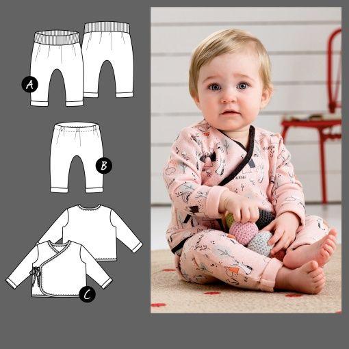 Bukser og omslagsjakke