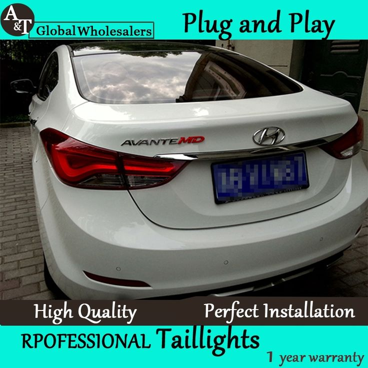 (418.00$)  Know more  - A&T Car Styling for Hyundai Elantra Taillights Korea Design New Elantra MD Tail Light Rear Lamp DRL+Brake+Park+Signal