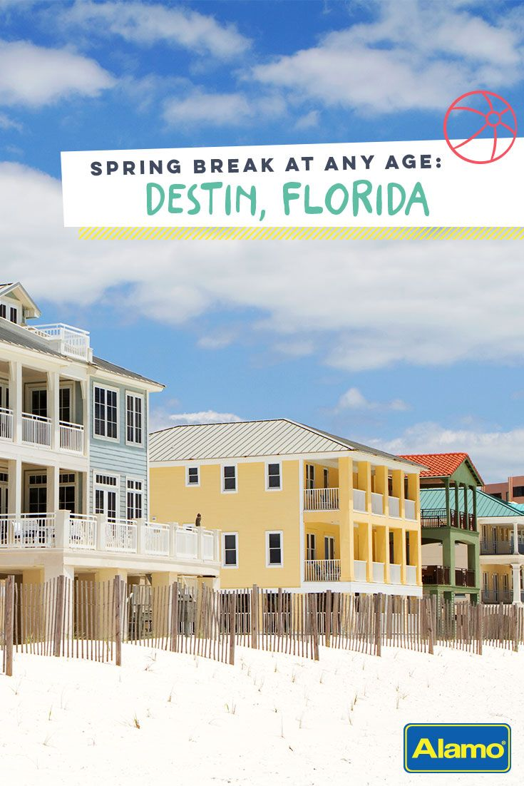 Find out what makes the charming town of Destin the ultimate spring break getaway for children, teens and adults alike.