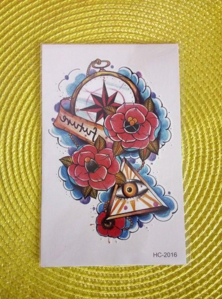 Временная татуировка - Роза ветров. У нас самые низкие цены. #бодиарт #флештату #купитьтату