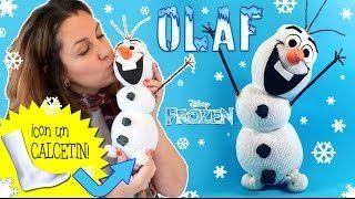 Muñeco de nieve OLAF hecho con calcetín * Manualidades NAVIDEÑAS ** ¡Hoy no hay…