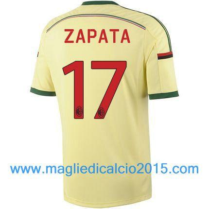 AC Milan magliette da calcio 2014/2015 Zapata 17-Trasferta