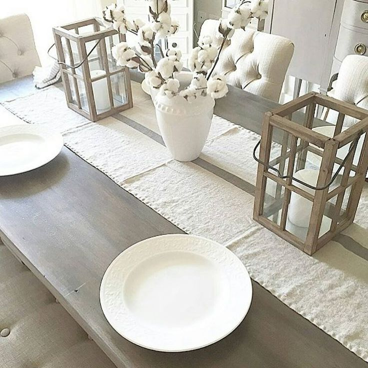 com on instagram houseof4blue blue this table top has been loved - Traditional Dining Table Centerpiece