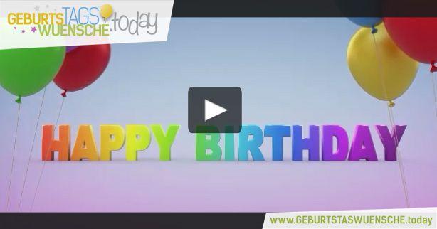Happy Birthday! - farbenfrohes  Geburtstagsvideo mit einem schönen Geburtstagslied.