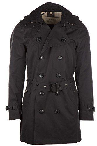 BURBERRY Men'S Raincoat Black. #burberry #cloth #                                                                                                                                                      More