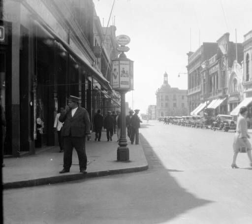 Chile, view of commercial street in Antofagasta :: AGSL Digital Photo Archive - South America