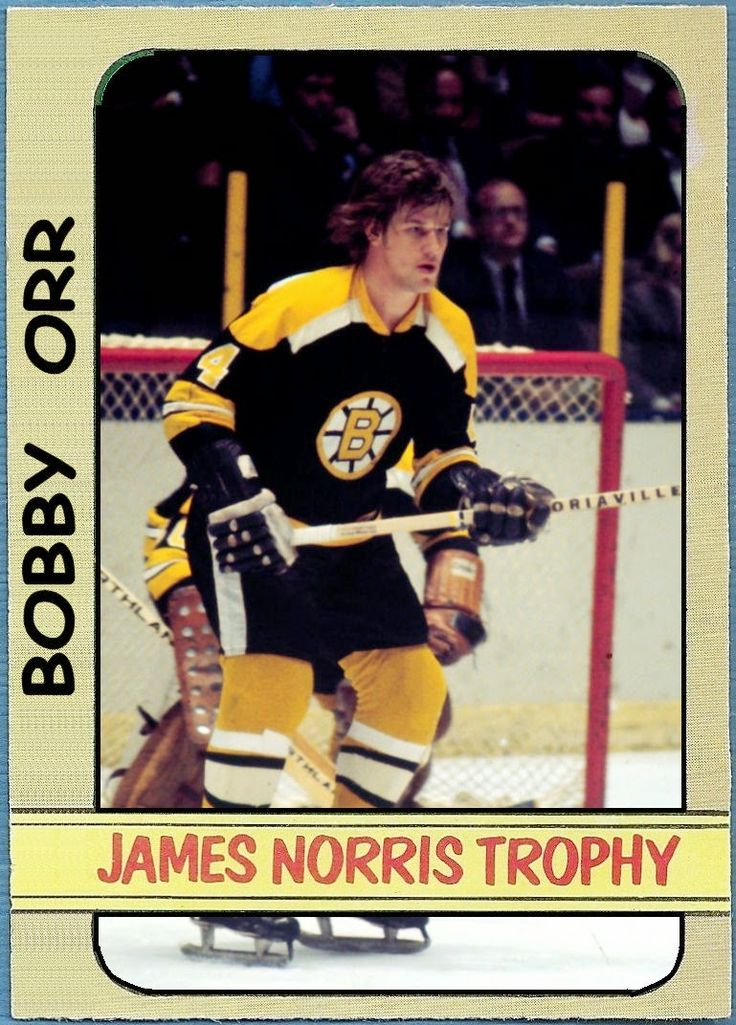 1972-73 Topps Norris Trophy - Bobby Orr Boston Bruins, Hockey Cards That Never Were