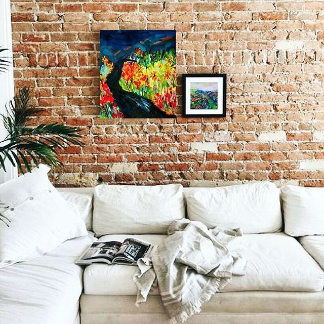 Abstract landscape art by Elizabeth Sargeant