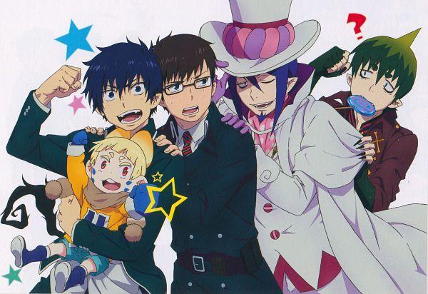 Tags: Anime, Katou Kazue, Ao no Exorcist, Usamaro, Okumura Yukio, Mephisto Pheles, Okumura Rin