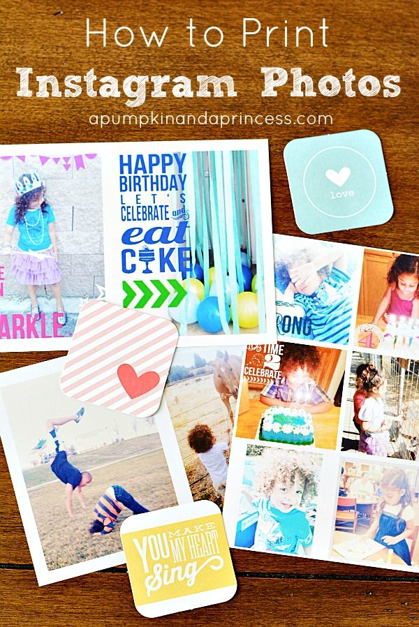 How to print instagram photos at apumpkinandaprincess.com
