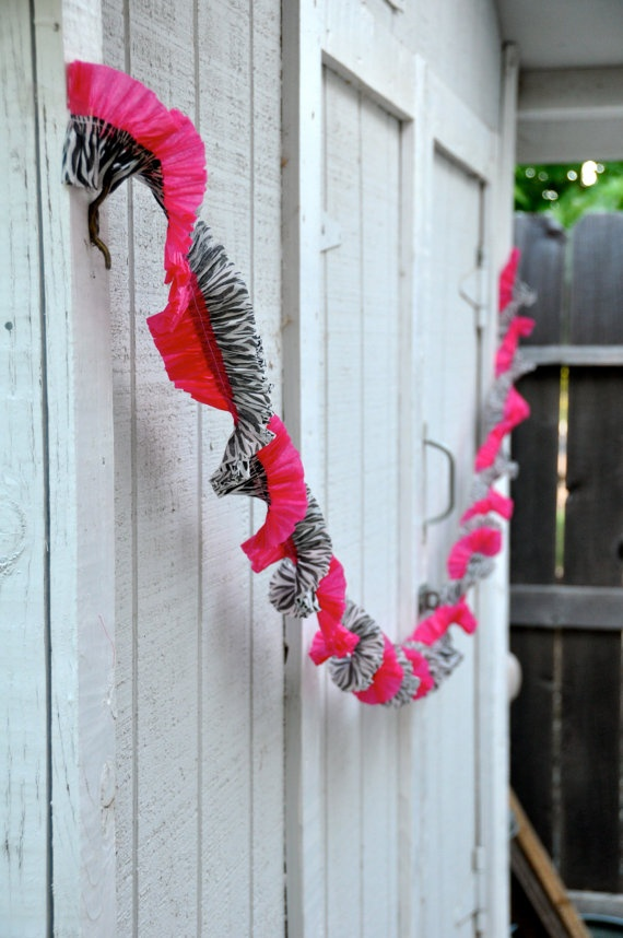 twisted crepe paper decorations love this but with leopard print
