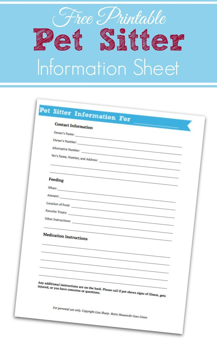 instructions for pet sitter office templates