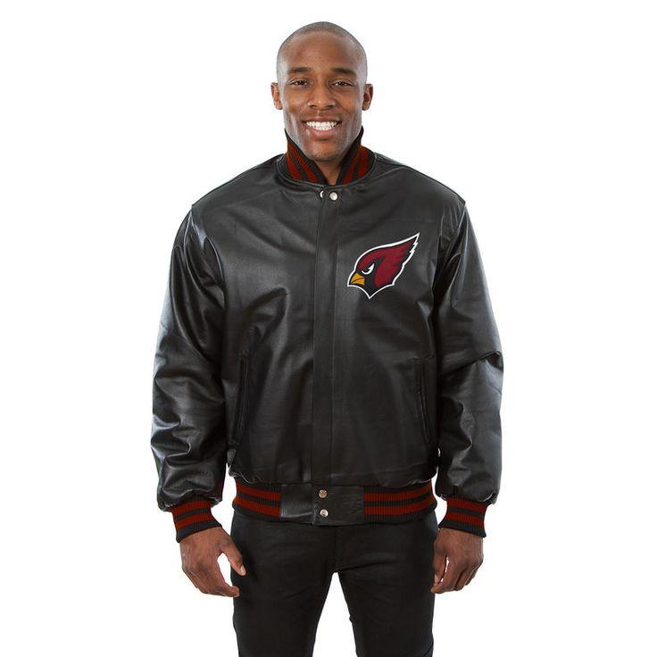 Arizona Cardinals JH Design Leather Jacket - Black