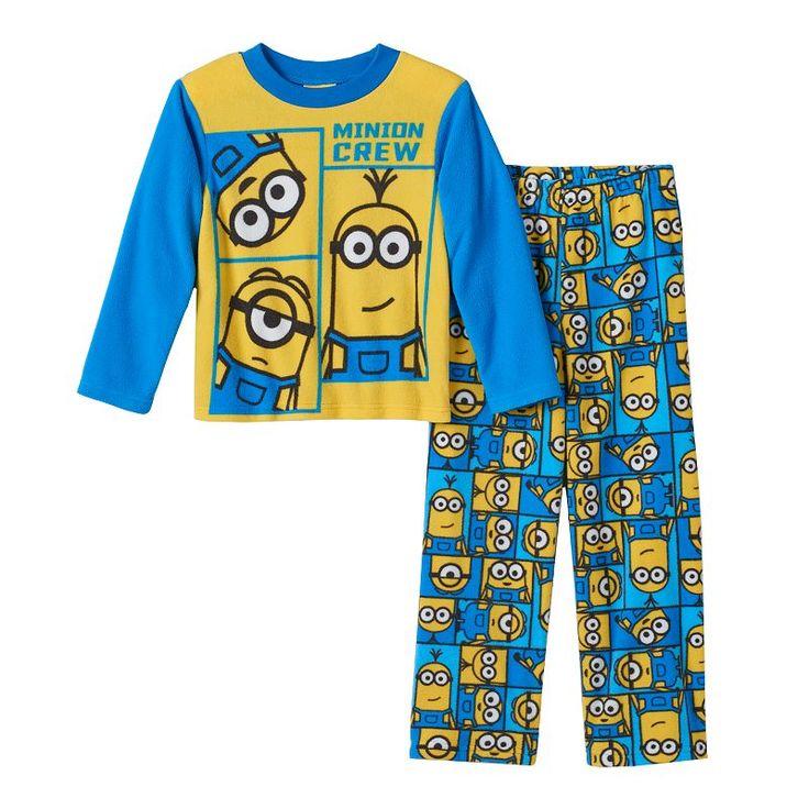 Boys 8-20 Minions 2-Piece Pajama Set, Boy's, Size: 4, Blue