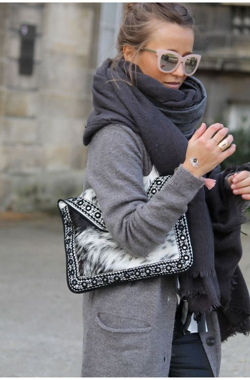 Fashion-clue: justthedesign: Grey Outfits
