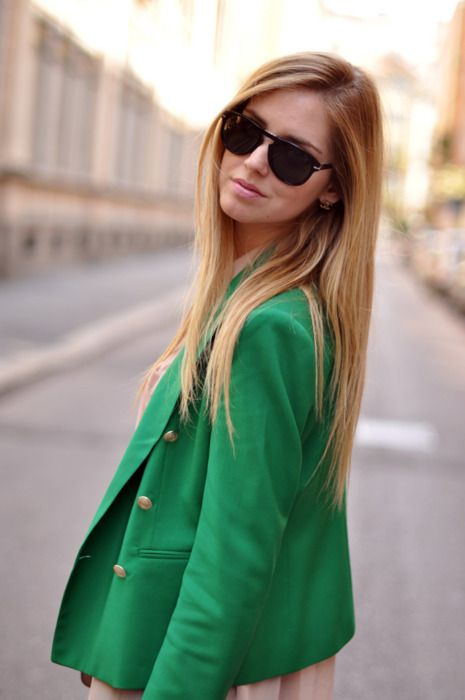green lovin': Light Pink Blazers, Mint Green, Emeralds Green, Haircolor, Green Blazers, Long Hair, Kelly Green, The Blondes Salad, Hair Color