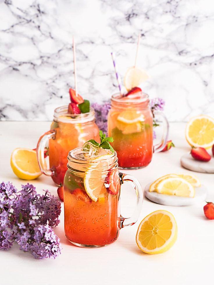Limonada de fresa casera...
