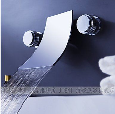 Waterfall Widespread Contemporary Bathtub Faucet (Chrome Finish) SJT