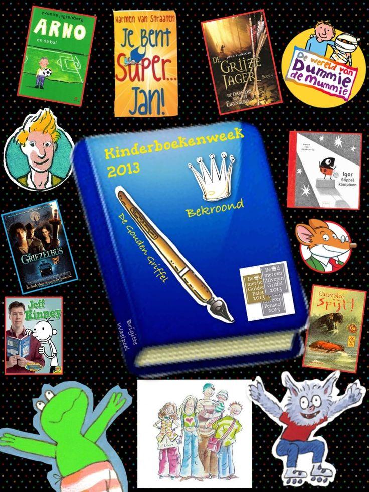 Collage bij Nieuwsbegrip week 1340: Kinderboekenweek