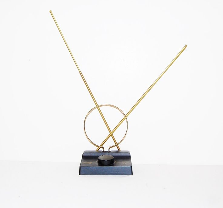 Vintage Home Decor / Television Antenna Mid Century by CheekyVintageCloset on Etsy