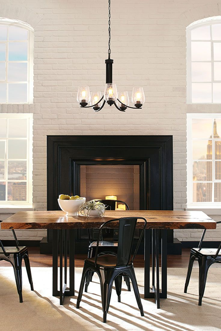 Morill 5  Light Chandelier By Sea Gull Lighting: Combines Retro And  Industrial Trends To. Dining Room ...