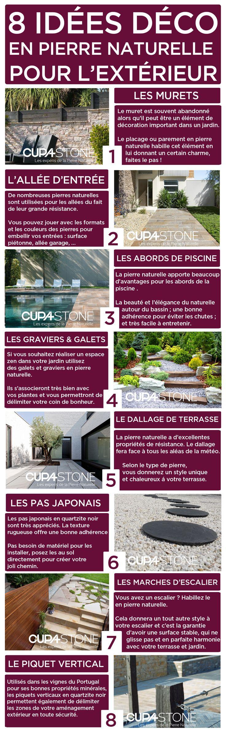 8 idées déco en pierre naturelle pour l'extérieur: terrasses, piscines et jardins | #CUPASTONE #pierrenaturelle #exterieur #terrasse #piscine #jardin #décoration
