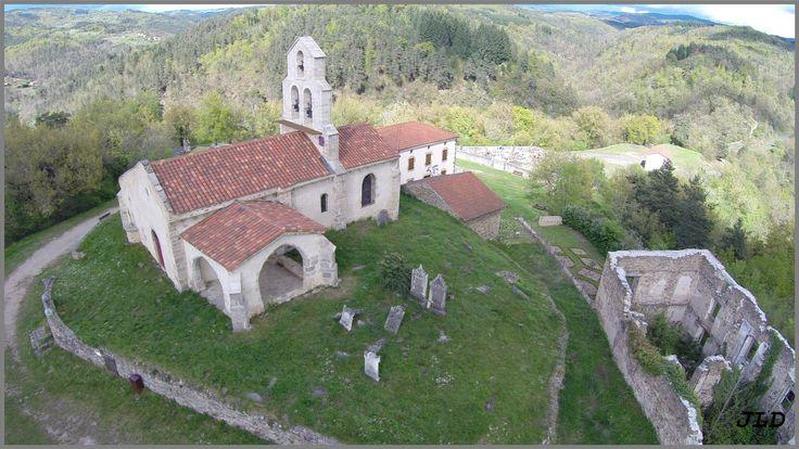 Vue aérienne de Saint Jean St Gervais