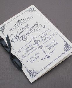 Ornate Vintage Wedding Ceremony Program template | Download & Print