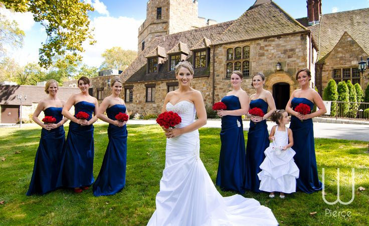 Navy and red wedding - Wedding Stokesay Castle