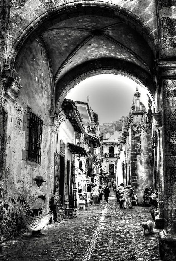 Calle del Arco in Taxco, Guerrero.