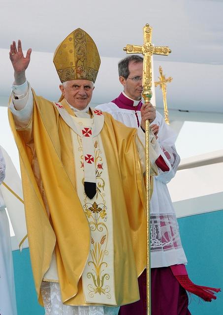 Benedetto XVI and Mons. Guido Marini
