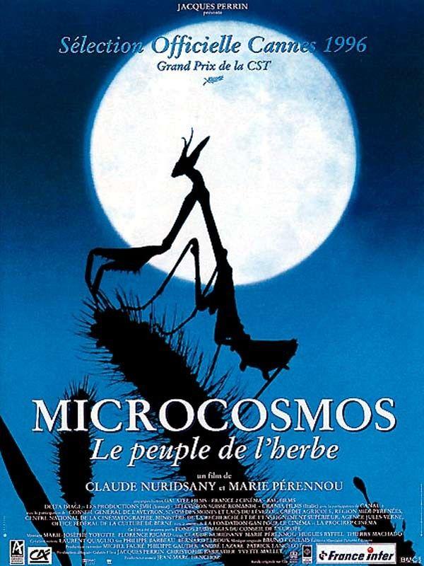 Affiche du film Microcosmos : Le Peuple de l'herbe. 1996. Claude Nuridsany, Marie Pérennou. Produit par Jacques Perrin ?