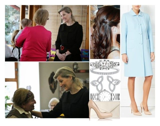 """""""Visiting the Sue Ryder Care Home  with the Countess of Wessex"""" by princess-katharina ❤ liked on Polyvore featuring Windsmoor, Harry Winston, Marc by Marc Jacobs and L.K.Bennett"""