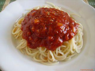 Spagetti paradicsomszósszal