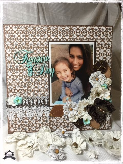 Couture Creations: Treasure Each Day by Anita Enright | #couturecreationsaus #scrapbooking #decorativedies #tutorial