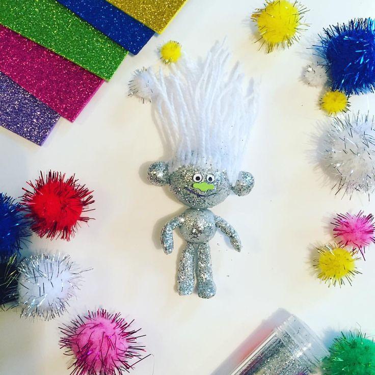 Trolls diy. Trolls figures. Gör ett eget troll från filmen Trolls. Make your own troll from the movie Trolls. Guy Diamond.